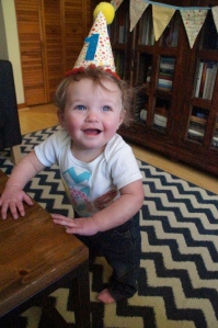 First time wearing a birthday hat